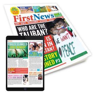 newspaper cover +iPad