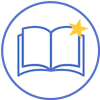 Vector Icon Open Book with Star